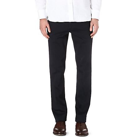 CORNELIANI Stretch-cotton chinos (Navy