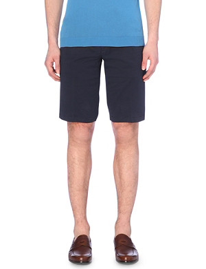 CORNELIANI Slim-fit cotton-blend shorts