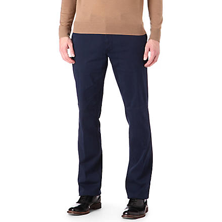 CORNELIANI Stretch-cotton trousers (Navy