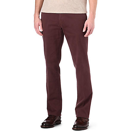 CORNELIANI Stretch-cotton trousers (Burg
