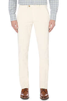 CORNELIANI Slim-fit tapered moleskin trousers