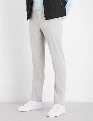 CORNELIANI Slim-fit tapered stretch-cotton chinos
