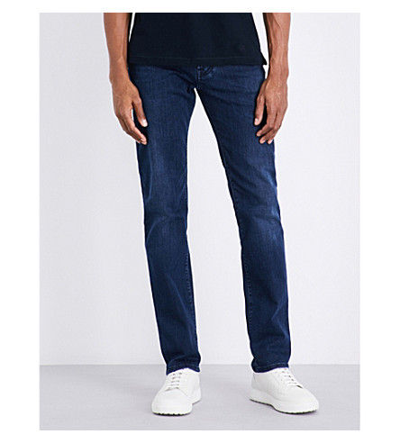 CORNELIANI Slim-fit tapered jeans (Dk+wash