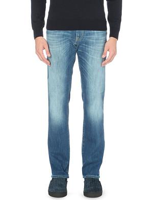 CORNELIANI Stretch-denim faded wash jeans