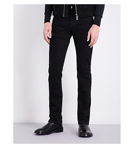 CORNELIANI Regular-fit straight mid-rise jeans (Black
