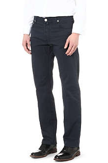 CORNELIANI Gabardine regular-fit straight jeans