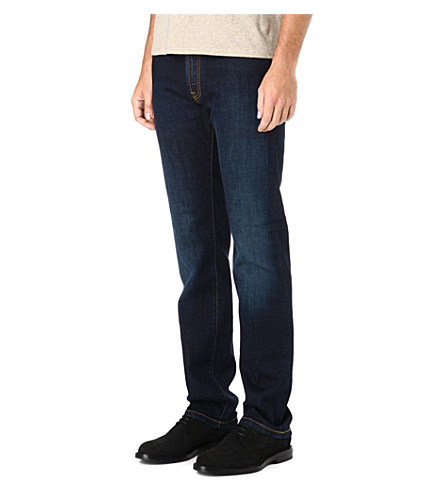CORNELIANI Regular-fit straight jeans (Indigo