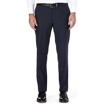 CORNELIANI Regular-fit wool trousers (Blue