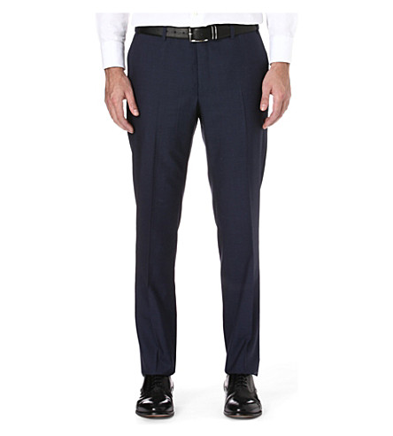 CORNELIANI Regular-fit wool trousers (Blue
