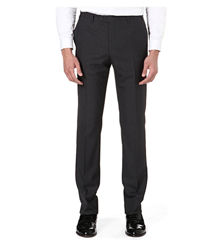 CORNELIANI Regular-fit wool trousers (Grey