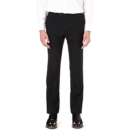 CORNELIANI Regular-fit wool trousers (Navy