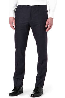 CORNELIANI Zip pocket wool check trousers