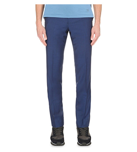 CORNELIANI Regular-fit wool and mohair-blend pants (Cadet+blue