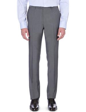 CORNELIANI Slim-fit wool-mohair trousers