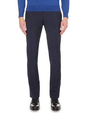 CORNELIANI Slim-fit wool-mohair trousers