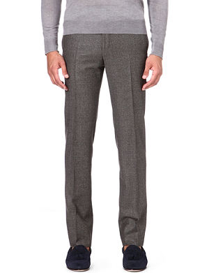 CORNELIANI Regular-fit straight wool trousers