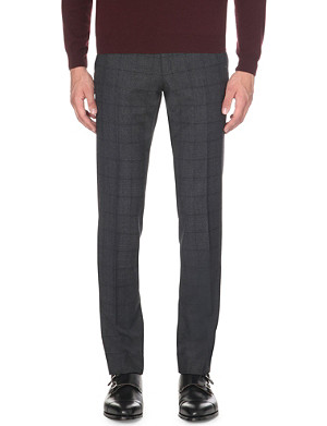 CORNELIANI Prince of Wales-patterned wool trousers