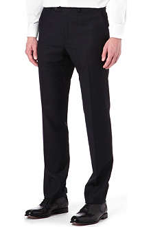 CORNELIANI Virgin wool cross-hatch trousers
