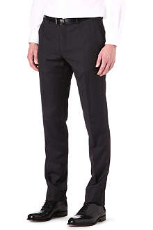 CORNELIANI Regular fit tapered wool trousers