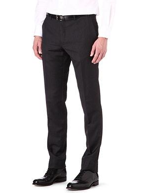 CORNELIANI Regular fit tapered wool trousers