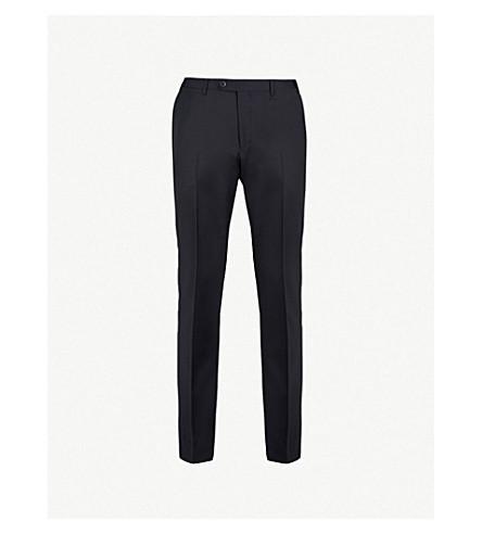 CORNELIANI Regular-fit tapered wool trousers (Navy