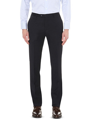 CORNELIANI Regular-fit tapered wool trousers