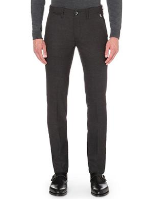 CORNELIANI Slim-fit tapered stretch-wool trousers