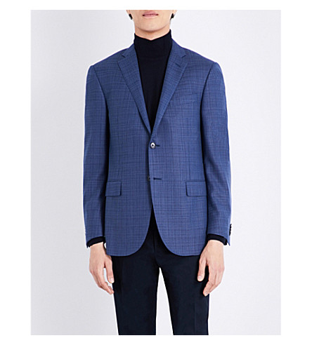 CORNELIANI Slim-fit wool jacket (Blue