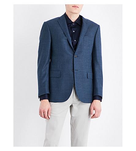 CORNELIANI Basketweave regular-fit wool jacket (Emerald