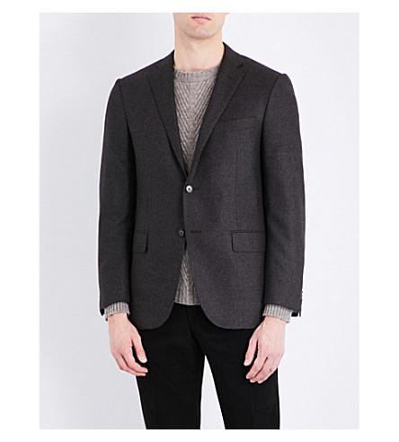 CORNELIANI Slim-fit wool jacket (Brown