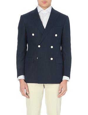 CORNELIANI Double-breasted wool-blend suit jacket
