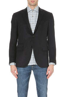 CORNELIANI Single-breasted silk and cashmere blazer