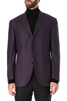 CORNELIANI Wool and cashmere-blend blazer