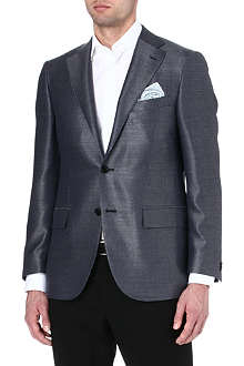 CORNELIANI Single-breasted wool and silk blazer