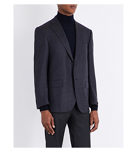 CORNELIANI Leader-fit wool jacket (Aubergine