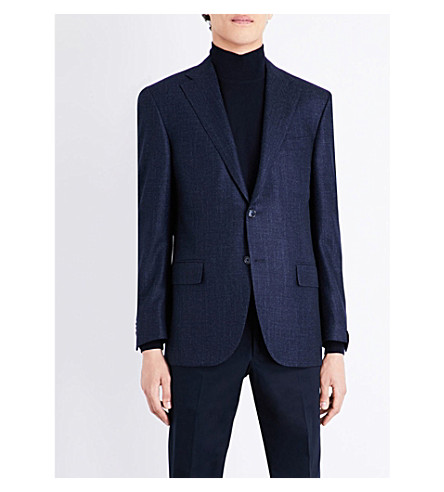 CORNELIANI Tailored-fit wool jacket (Navy