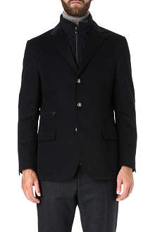 CORNELIANI Zip insert cotton blazer