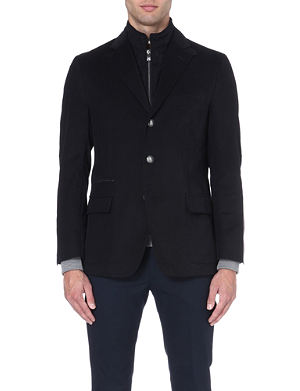 CORNELIANI Detachable-insert cotton blazer