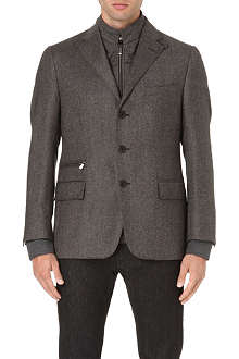 CORNELIANI Single-breasted wool jacket
