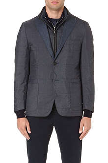CORNELIANI Quilted herringbone jacket