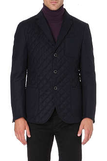 CORNELIANI Quilted wool-blend jacket