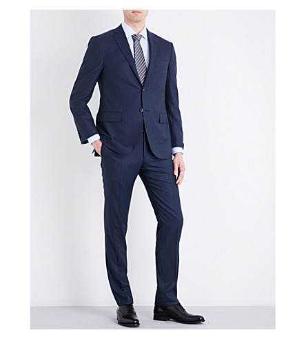 CORNELIANI Slim-fit wool suit (Blue