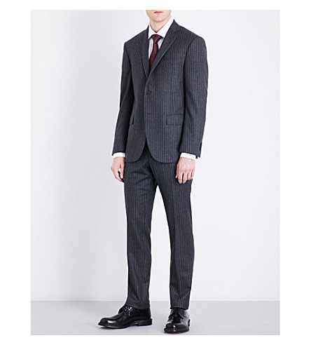 CORNELIANI Pinstriped academy-fit wool suit (Grey