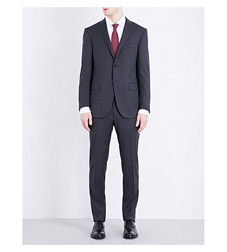 CORNELIANI Slim-fit wool suit (Charcoal