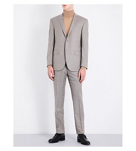 CORNELIANI Woven regular-fit wool suit (Beige