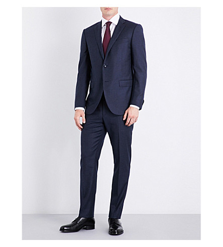 CORNELIANI Pinstripe regular-fit wool suit (Indigo