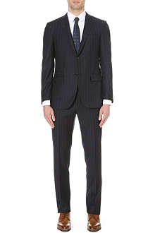 CORNELIANI Chalk-striped wool suit