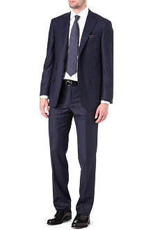 CORNELIANI Single-breasted tonal check suit