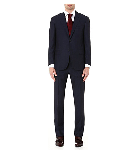 CORNELIANI Herringbone wool suit (Navy