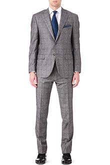CORNELIANI Single-breasted Prince of Wales check suit
